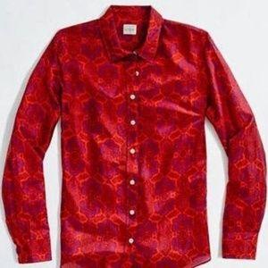 J. Crew Factory Perfect Shirt Cotton Silk M